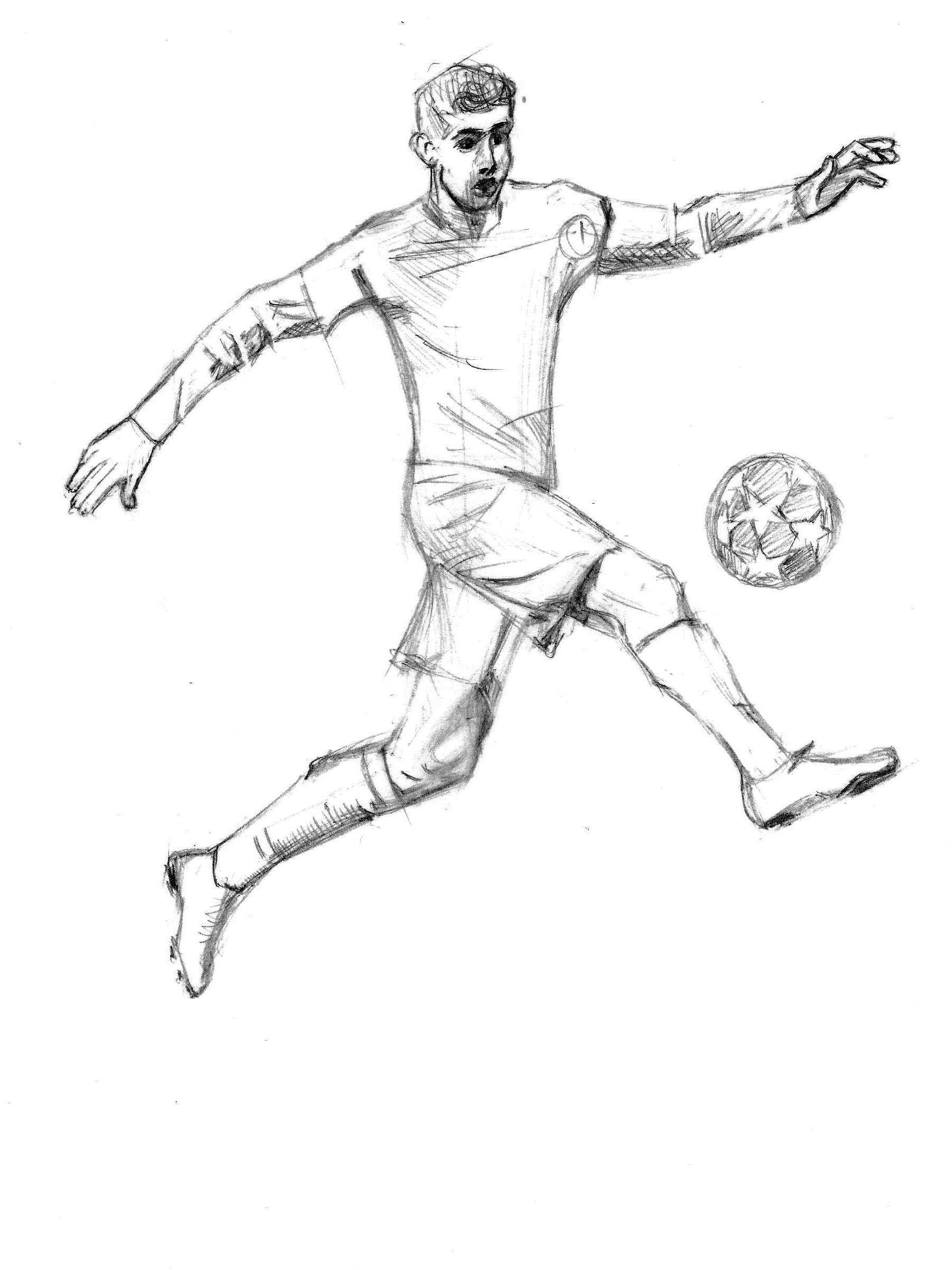 Pencil Drawing Soccer Drawing Football Drawing Human Figure Sketches
