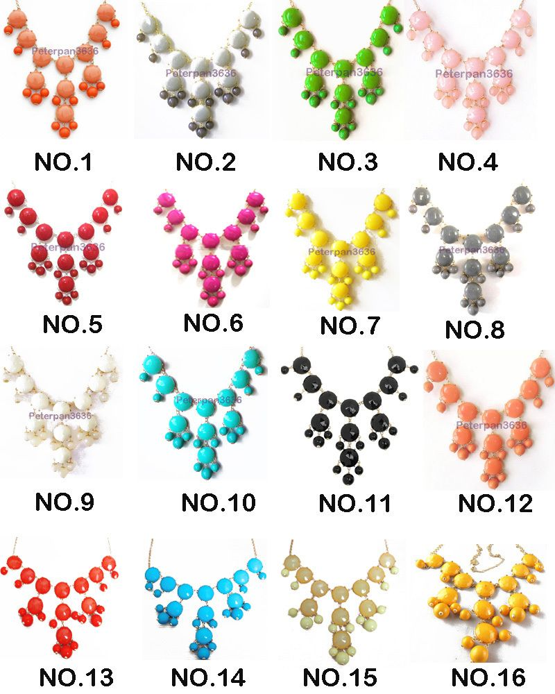 Found these AMAZING replica J-Crew Bib Necklaces online for $13.99 that come in every color imaginable.