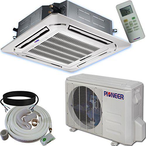 Pioneer Ceiling Cassette Split Ductless Inverter Heat Pump System
