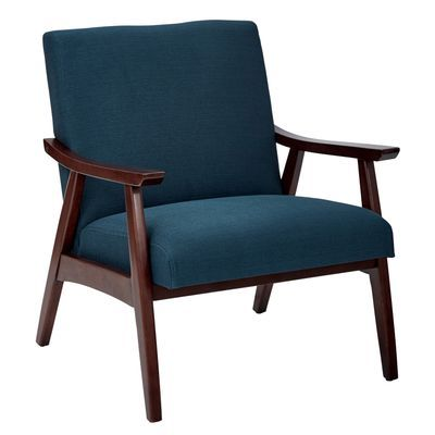 Davis Navy Chair In 2019 Upholstered Arm Chair Fabric