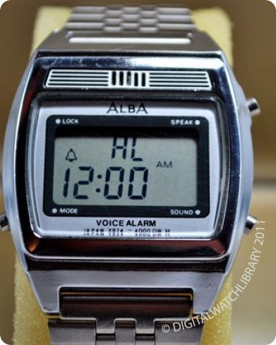 Vintage green led watch