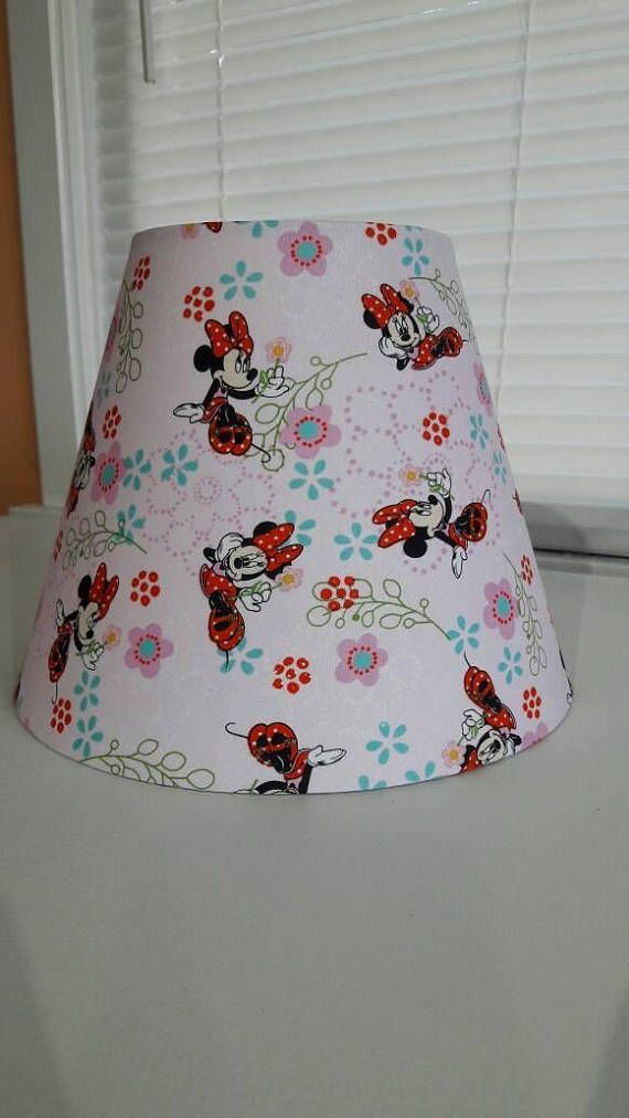 Check out this item in my etsy shop httpsetsylisting perfect lamp shade for a minnie mouse loving kid the lamp shade is tall wide at the bottom and wide at the top aloadofball Image collections