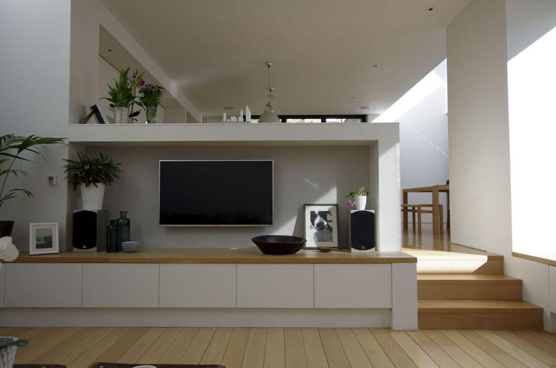 Nice 46 Attractive Split Level Living Room Ideas