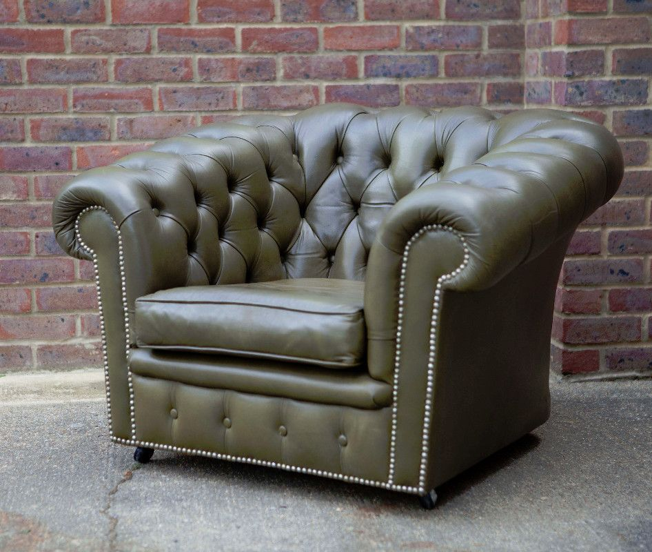 Amazing Sage Green Leather Chesterfield Armchair beautiful item in unused condition Inspirational - Best of Green Chesterfield sofa Luxury