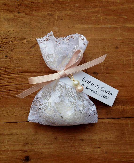Bomboniere Matrimonio Battesimo.Sacchetti Portaconfetti Sacchetti In Pizzo Per Confetti
