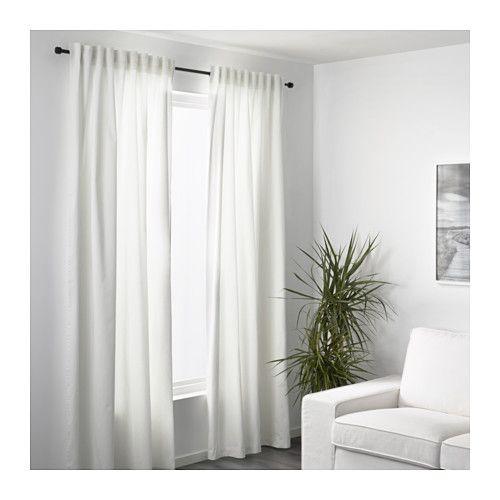 Merete Room Darkening Curtains 1 Pair Bleached White 57x118