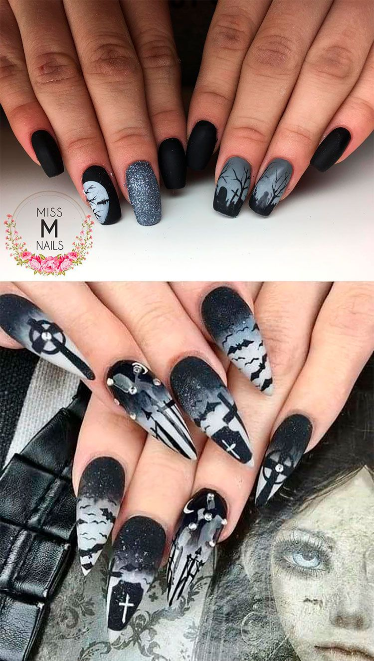 The Best Halloween Nail Designs In 2018 Stylish Belles Halloween Nail Designs Cowboy Nails Halloween Acrylic Nails