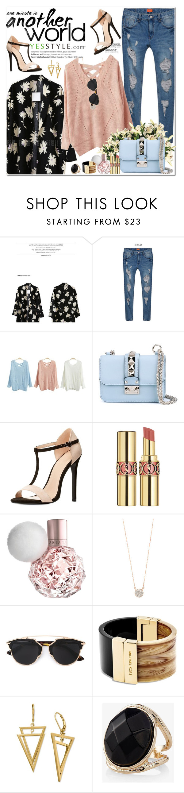 """""""YesStyle - Spring Fashion"""" by oshint ❤ liked on Polyvore featuring Balmain, Baimomo, Valentino, Charlotte Russe, Yves Saint Laurent, Adina Reyter, Christian Dior, Michael Kors, Express and women's clothing"""