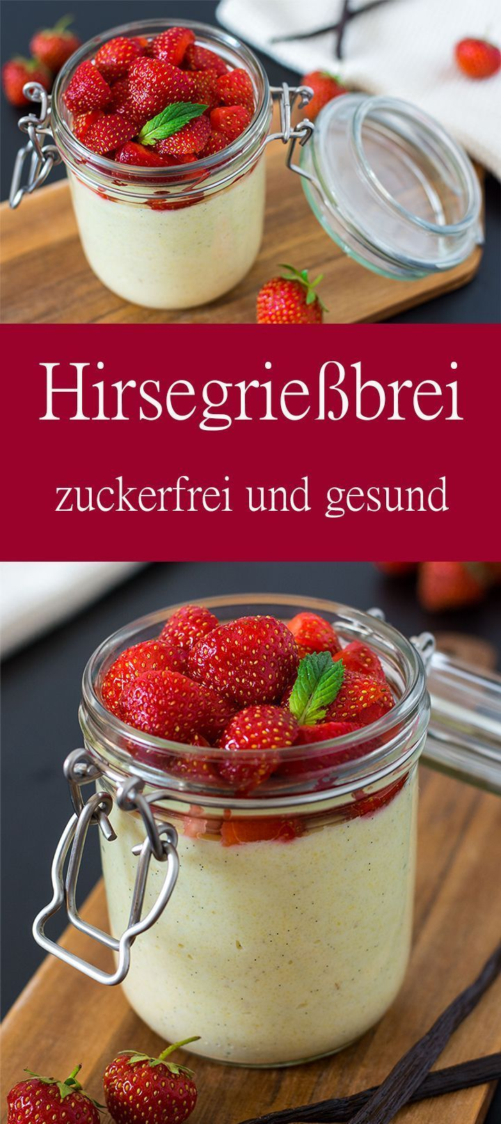Cremiger Hirsegrießbrei mit Vanille   Dinkel & Beeren