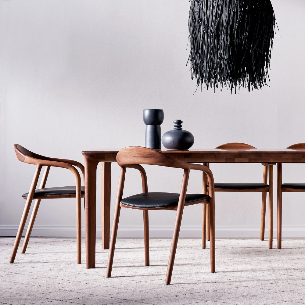 Neva Dining Chair Walnut In 2020 Extendable Dining Table