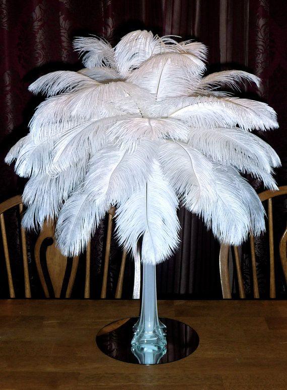 16 Ostrich Feather Centerpiece 16 Inch Eiffel Tower Vase 4th Of