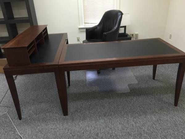 (2) TWO COPELAND OFFICE COMPUTER DESK WITH KEYBOARD TRAY ...