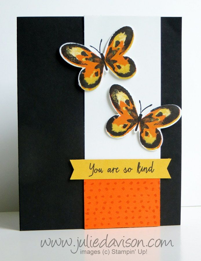 Julie S Stamping Spot Card Tutorial Butterfly Cards Wings Card