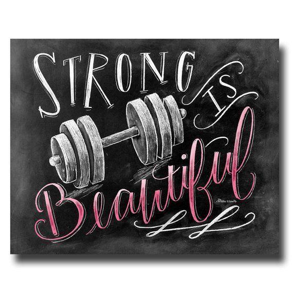 #Fitness #Gewichtheben #Gym #ist #Kreide #Kunst #Mädchen #motivation #schon #Stark         Fitness M...