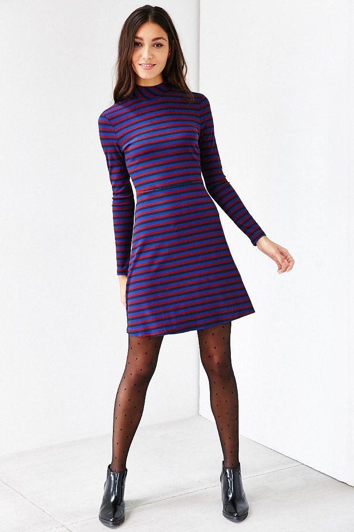 Glamorous Stripe Mock-Neck Dress | Dresses & Rompers | Pinterest ...