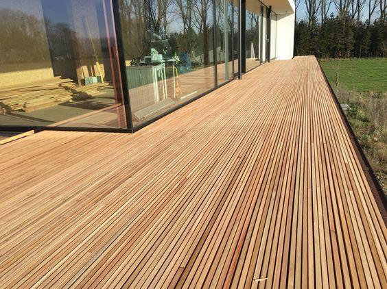 Voorbeeld houten terras lork lines: cumaru deck in 2018