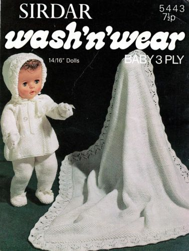 baby knitting pattern  baby dolls clothes pram / dress by lillbees
