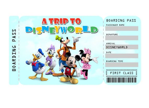 It is a graphic of Adaptable Free Printable Pretend Disney Tickets