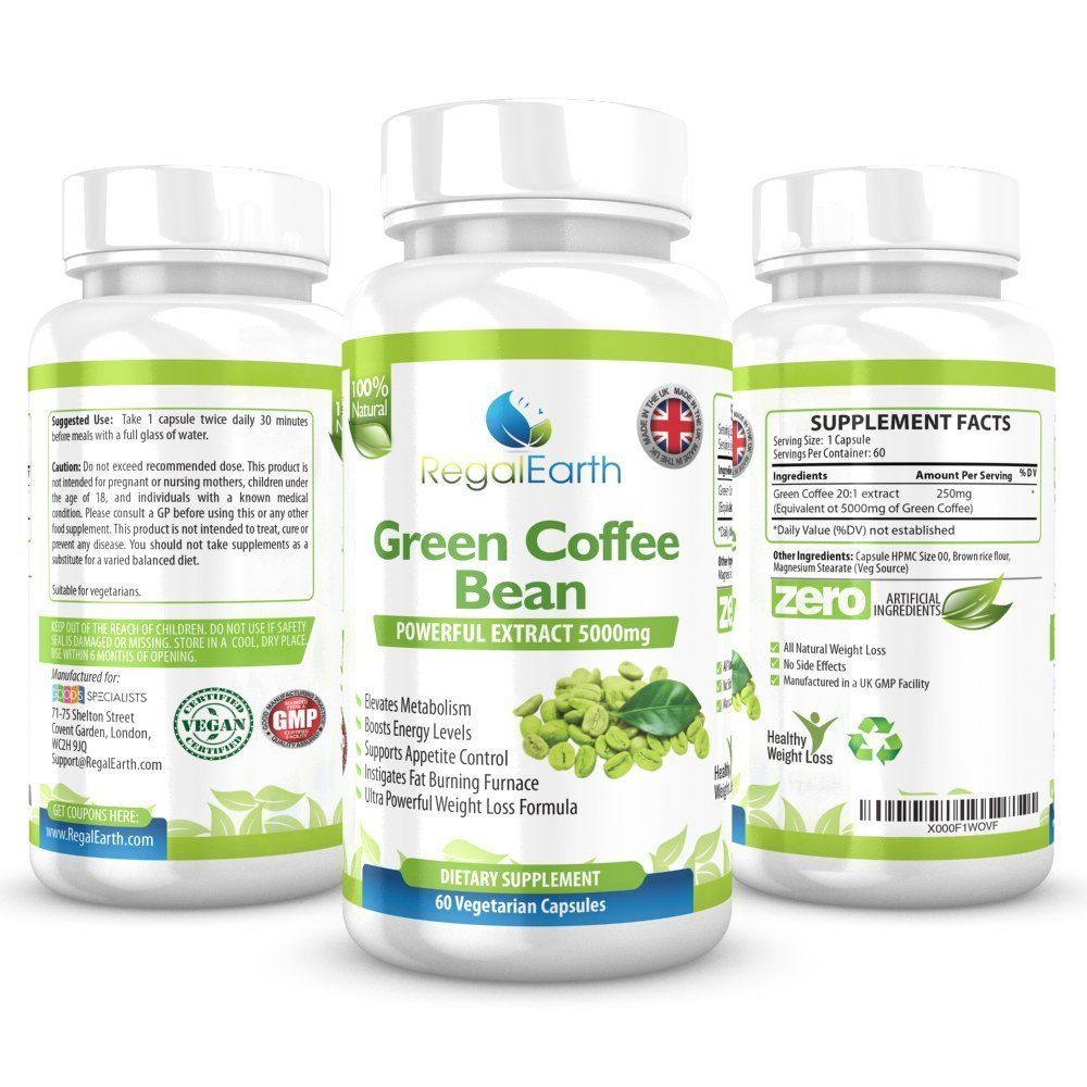 Green Coffee Bean Extract Weight Loss Plus Cleanse Capsules For Men
