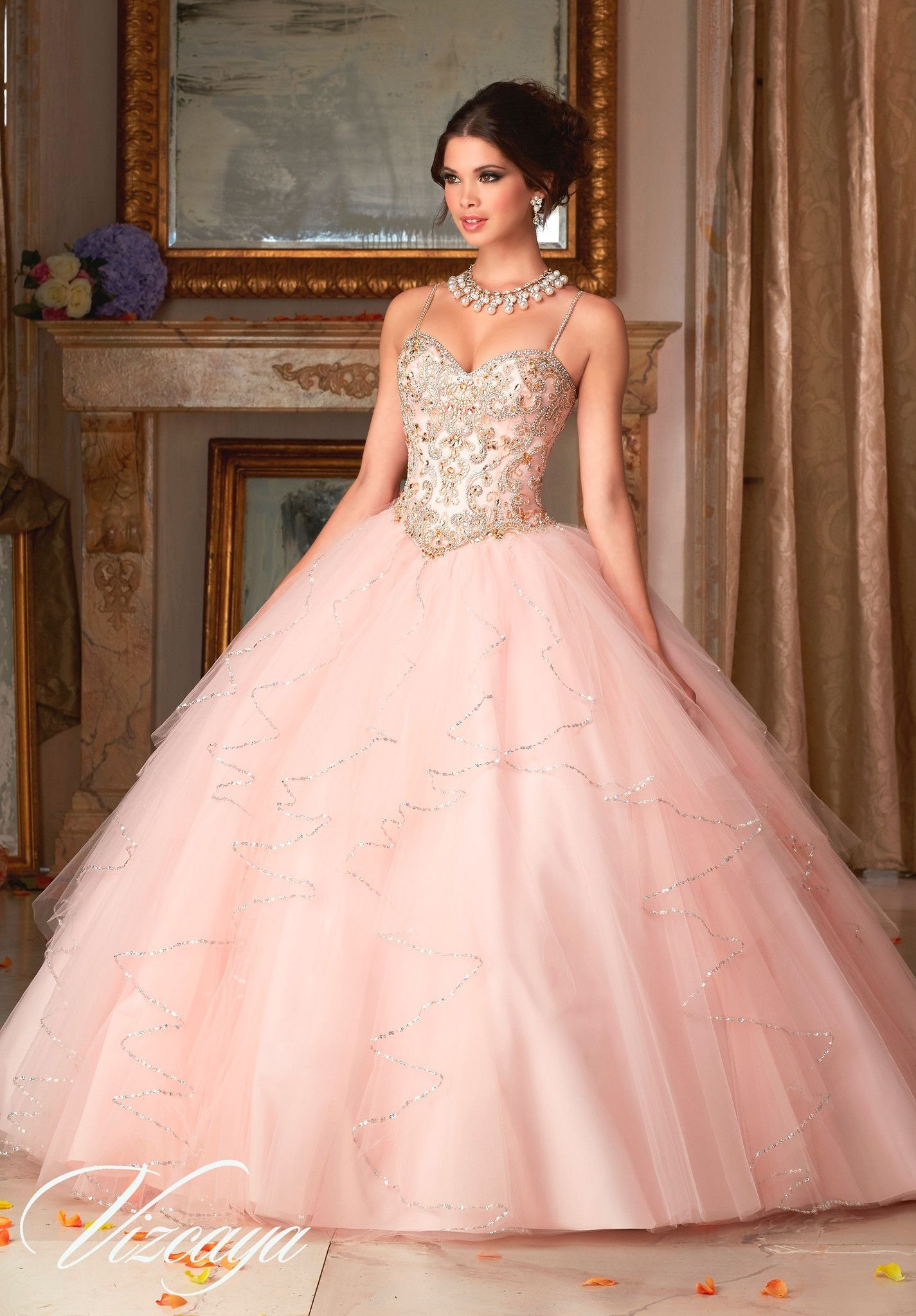 e66fa4b31fe Sweetheart Layered Quinceanera Dress by Mori Lee Vizcaya 89101 in ...