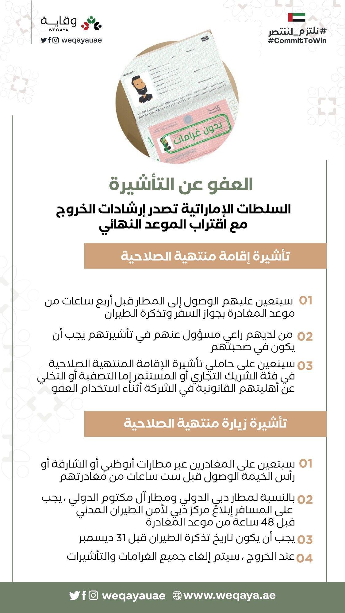 ما الجديد في قانون التأشيرة الإماراتي وقرارات العفو عن المخالفين