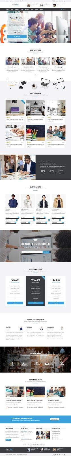 Best Responsive Learning Management System Site Template for ...