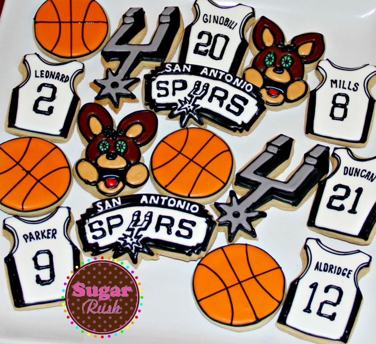 San Antonio Spurs Basketball sugar cookies #decoratedcookies #GSG