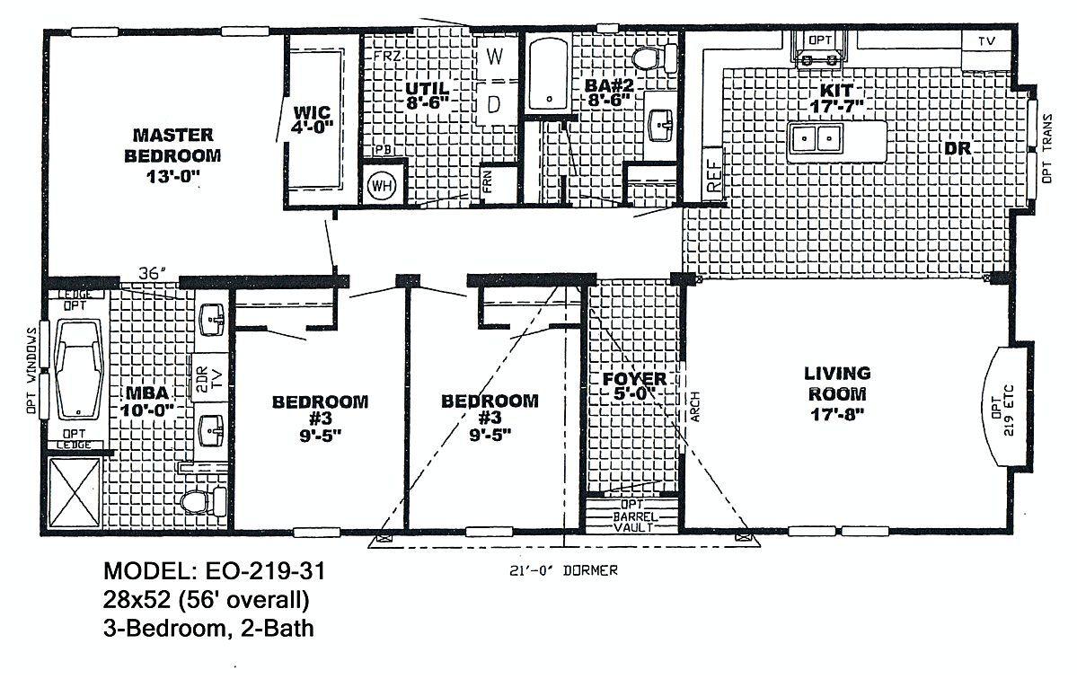 5 Bedroom Triple Wide Mobile Homes Bedroom bath double wide