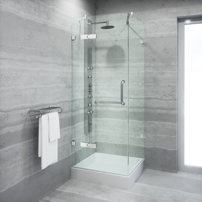Vigo Monteray 32 X 32 Shower Enclosure With Base Frame Finish