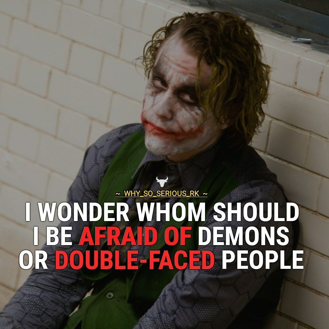 Quote From Official Page Of Why So Serious From INSTAGRAM