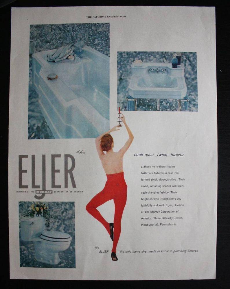 eljer bathroom fixtures 1950s tub sink u0026 toilet print ad eljer