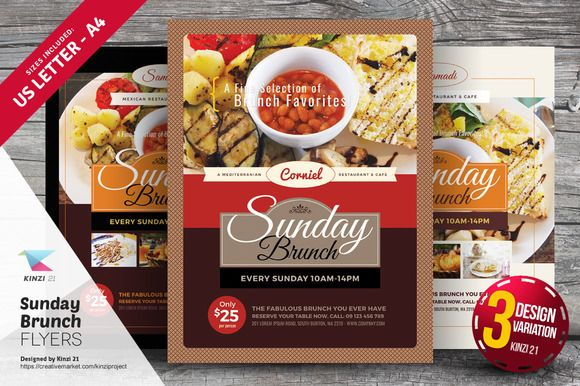 Sunday Brunch Flyer Templates By Kinzi21 On Creativework247