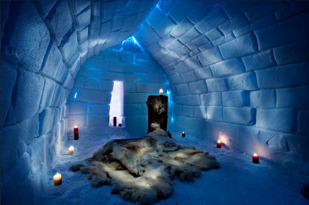 inside an ice palace. | Ice hotel, Rovaniemi, Lapland