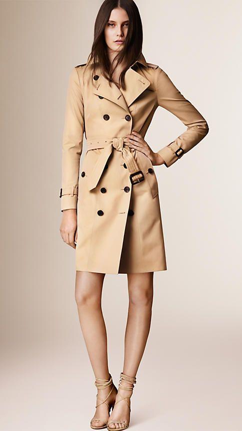 7244705f5 The Sandringham – Long Trench Coat in Honey - Women   Things to Wear ...
