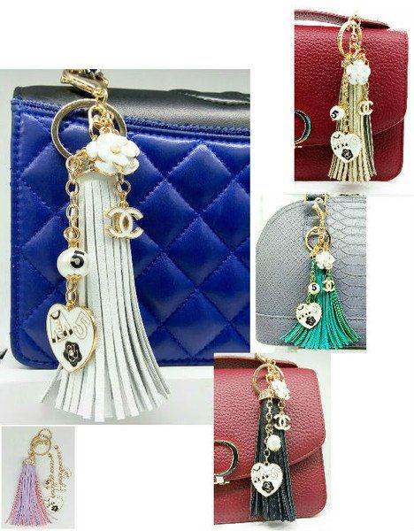 c2becce2edcd Bag charms – Fashion keychain tassel charms bag – a unique product by  birdofparadise97 on DaWanda