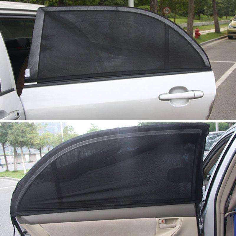 Car Rear Window Sunshade Sun Shade Cover Visor Mesh Shield UV Block Protect
