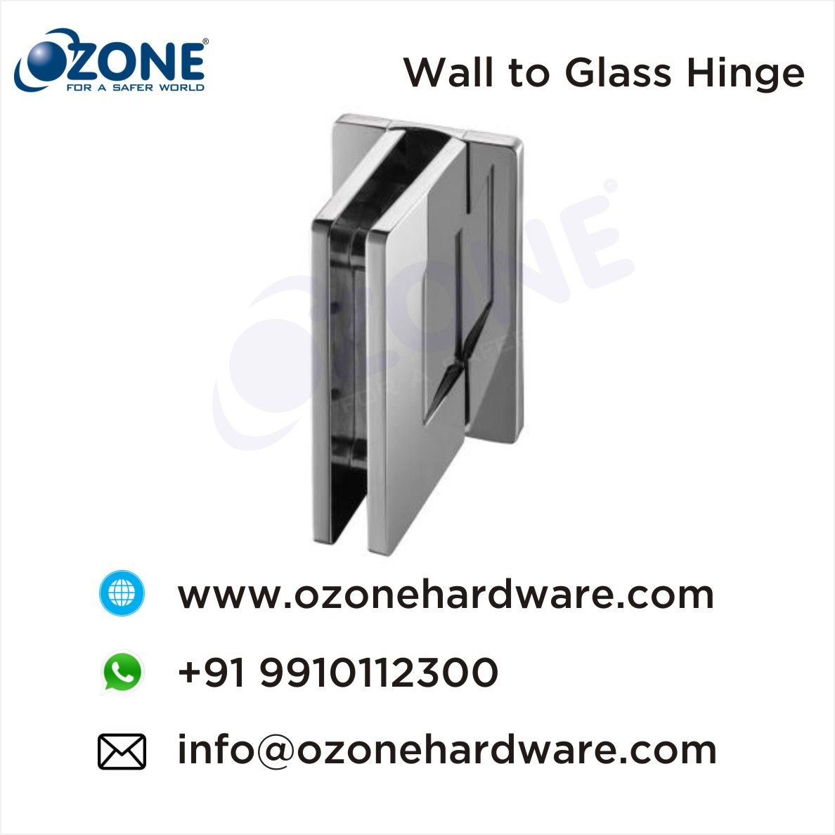 Wall To Glass Hinge With Cover Plate Showerroomhardware Showerroomideas Showercubicles Ozonehardware Glass Hinges Glass Door Lock Glass Door