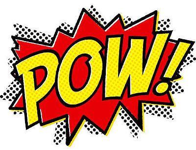 SUPERHERO CARTOON COMIC GRAPHIC POW IRON ON T SHIRT TRANSFER