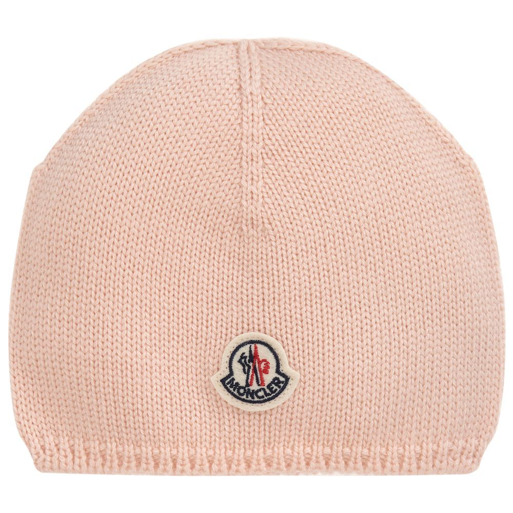 2dad7e591 Baby Girls Pink Wool Hat for Girl by Moncler. Discover more ...