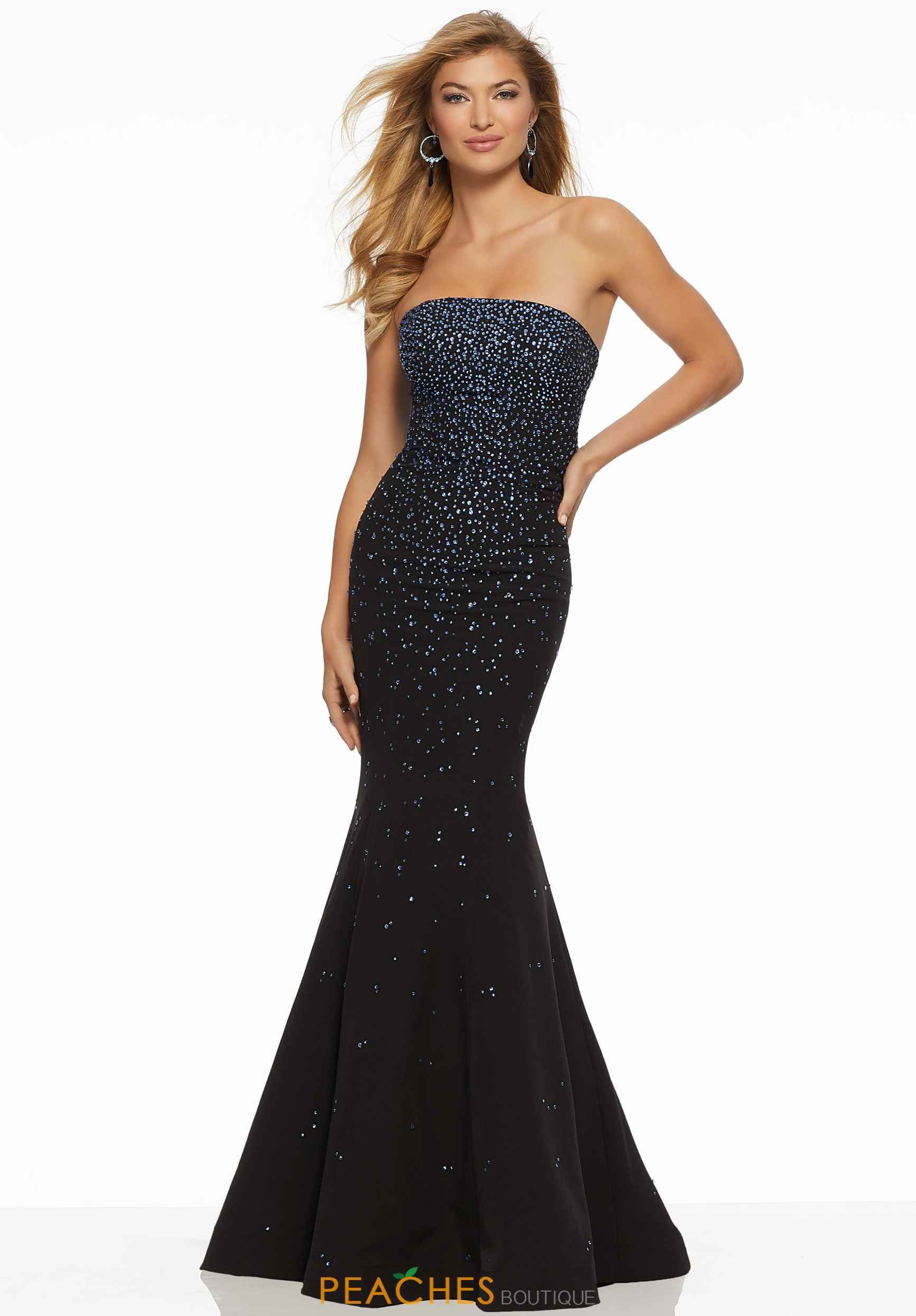 f0b9815e3c3 Black Strapless Fitted Evening Gown - Data Dynamic AG