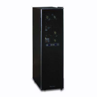 Wine Enthusiast Companies Silent 18 Bottle Dual Zone Slimline Wine Refrigerator