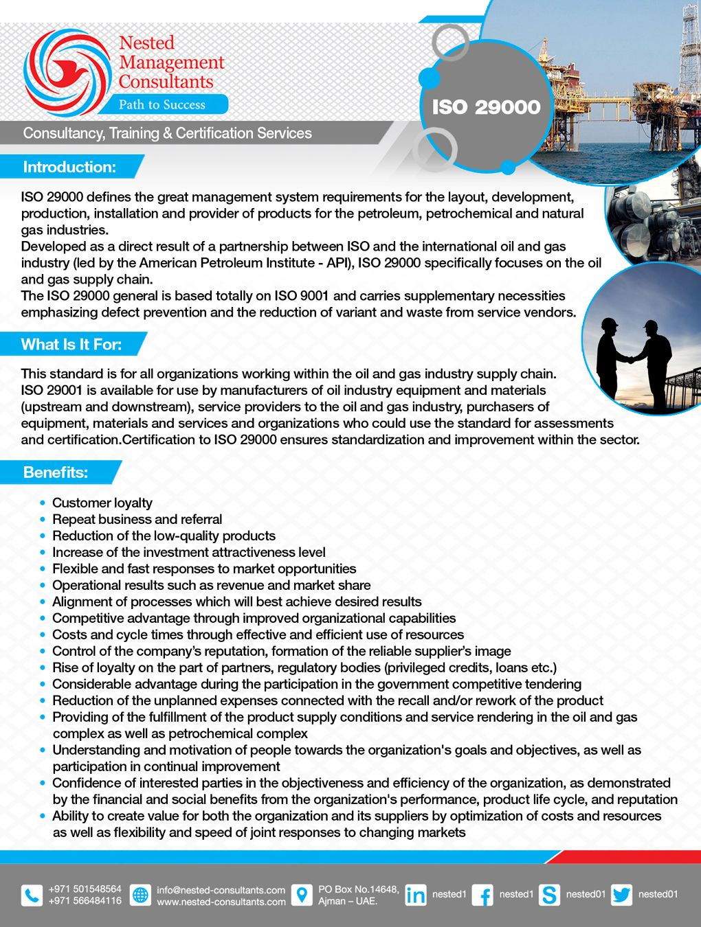 Iso 29000 Quality Management System For Oil Gas Gas Industry Management Oil And Gas