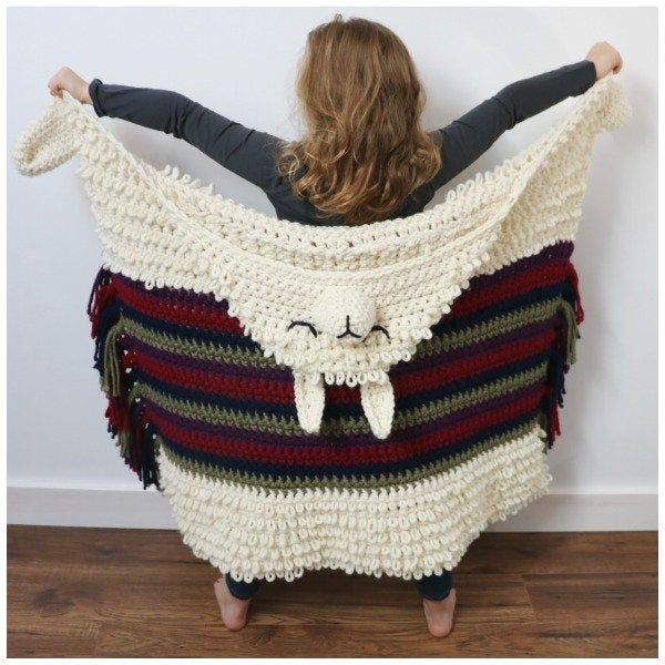 Alpaca My Llama Blanket Crochet Pattern Hakelanleitung