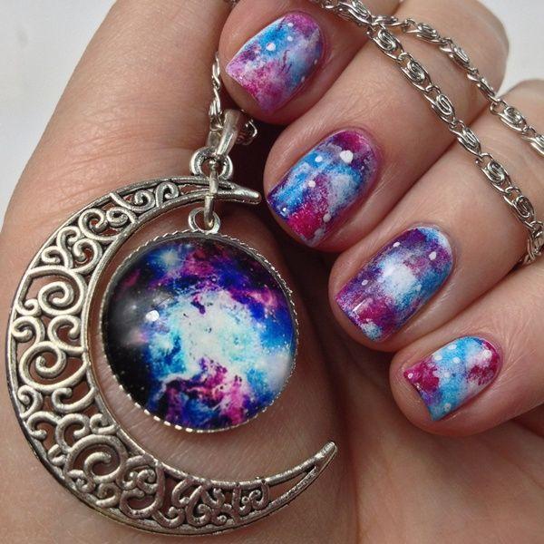 Galaxy Nail Design Nails Pinterest Galaxy Nail And Art Tutorials