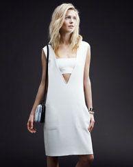 T by Alexander Wang Bandeau V Dress: White