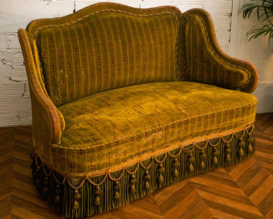 canap vintage canap ancien art d co banquette napol on iii belle poque 1900 authentique. Black Bedroom Furniture Sets. Home Design Ideas