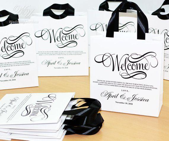 Destination Wedding Gift Bags: 25 Wedding Favor Gift Bags For Hotel Guests, Elegant