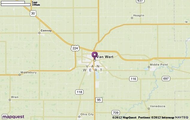 Van Wert Oh Map Mapquest Nw Ohio Map Driving