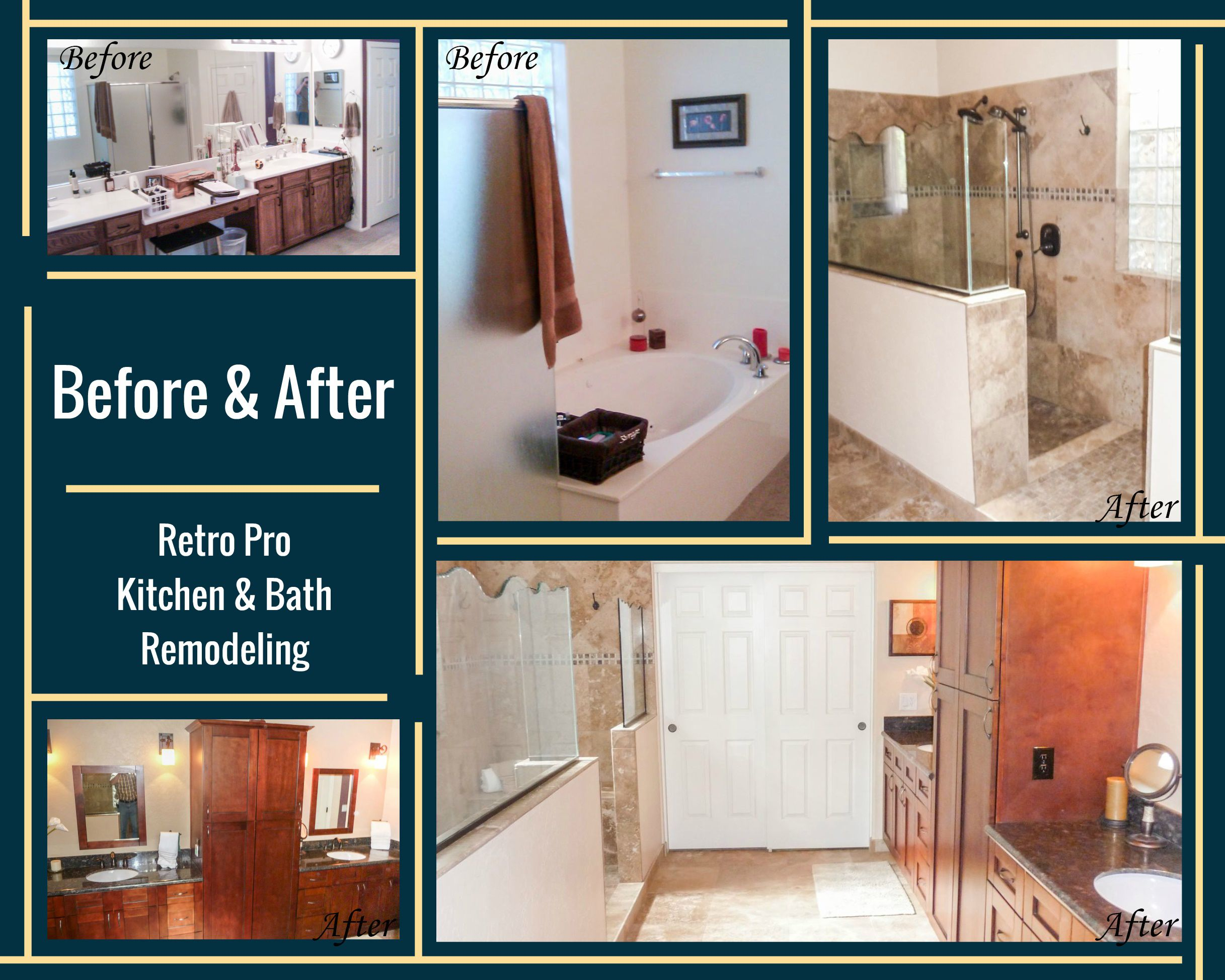 Pin by retro pro kitchen u bathroom remodeling on before and after