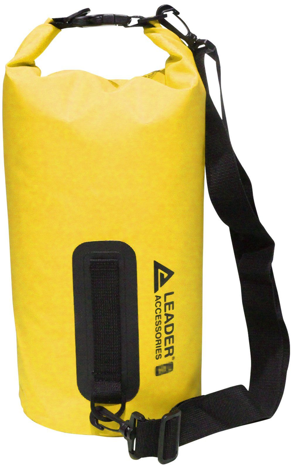 Canoe Storage    Leader Accessories New Heavy Duty Vinyl Waterproof Dry Bag  for Boating Kayaking Fishing Rafting Swimming Floating and Camping Yellow  20L ... 14c12a575abd9